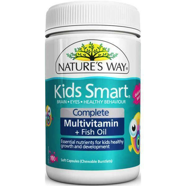 nature 39 s way kids smart complete multi vitamin fish oil