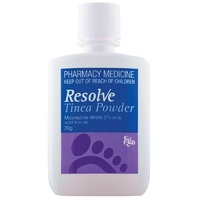 Ego Resolve Tinea Powder 20G keeps skin dry & helps prevent spread of infection
