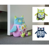 Annabel Trends Pillow Pal Door Stop Owl Book End Children Kids Bedroom 5 Colours