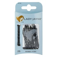 Lady Jayne Bobby Pins, Black, 4.5 cm, Pk25