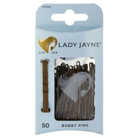 Lady Jayne Bobby Pins, Brown, 4.5 cm, Pk50