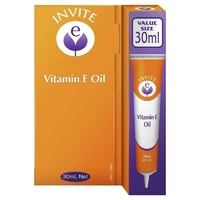 Invite E Vitamin E Pure Oil 30ml Reduce Skin Dryness Soften Dry Rough Areas