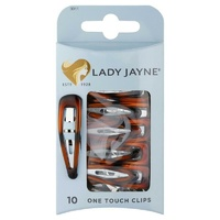 Lady Jayne One Touch Clips Shell Pk10