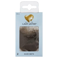 Lady Jayne Hair Net, Light Brown, Pk2