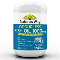 Nature's Way Fish Oil 1000mg 200s Maintain Healthly Cholesterol Levels