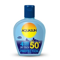 Aquasun 4 Hours Water Resistant Dry Touch Sunscreen Lotion SPF 50+ 125ml Bottle
