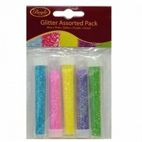 Boyle Glitter Assorted Pack [02] 5x2gm ( Blue , Pink, Yellow, Purple, Green)