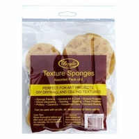 Boyle Synthetic Sea Sponge Assorted Pack - Perfect for Art Projects