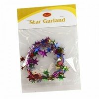 Boyle Star Garland Multi Coloured 270cm - Perfect for Arts and Craft