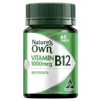 Nature's Own Vitamin B12 1000mcg 60 Tablets maintaining healthy blood vessels