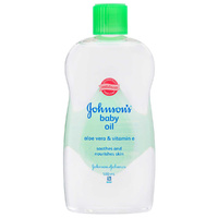 Johnsons Baby Oil Aloe Vera & Vitamin E 500ML Provide Extra Soothing
