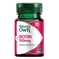 Natures Own Biotin 300mcg 1672 Tablets 100