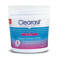 Clearasil Ultra Rapid Action Pads 65 Cleans Pore, Removes Oil, Reduces Shine
