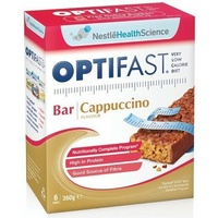 Optifast VLCD Bars Cappuccino 60G x 6 Pack Dietary Management Of Obesity