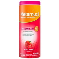 Metamucil Smooth Wild Berry 72 Dose 425GDaily Fibre Supplements