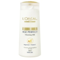 Loreal Age Perfect Cleansing Milk 200Ml Leaving The Skin Feeling Strengthened