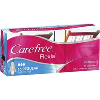 Carefree Flexia Tampons Regular 16
