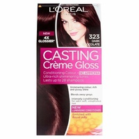 Loreal Casting Creme Gloss 323 Dark Chocolate Lasts up to 28 shampoos