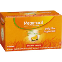 Metamucil Smooth Orange 30 Sach Daily Fibre Supplements