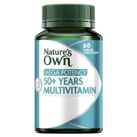 Natures Own Multi 50+ Mega Potency Tablets 60  assist vitality,general wellbeing