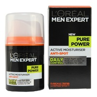 Loreal Men Pure Power Moisturiser 50ML Helps Prevent Pimples, Excess Oi