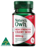 Natures Own High Strength Celery Seed 400mg Capsules 30