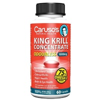 Carusos King Krill Concentrate Odourless Capsules 60