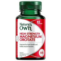 Natures Own High Strength Magnesium Orotate Capsules 60