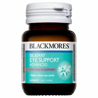 Blackmores Bilberry Eye Support Advanced 30 Tablets reduce and relieve eyestrain