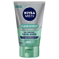 Nivea for Men Clear Effect Pore Minimiser Facial Scrub 100ml Oil Control