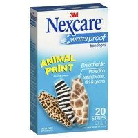 Nexcare Waterproof Animal Strips 20 High Level of Protection Diamond Shape