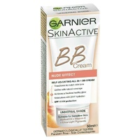 Garnier SkinActive BB Cream Nude Self-Adjusting 50ml 24 hour Hydrating Formula