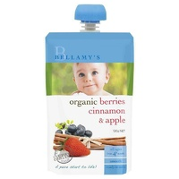 Bellamy's Organic Berries Cinnamon & Apple 120g Nutritious Baby Food