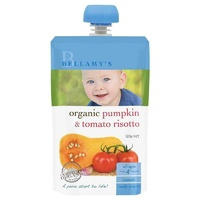 Bellamy's Organic Pumpkin Tomato Risotto 120g Nutritious Baby Food Ready To Eat