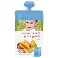 Bellamy's Organic Banana Pear & Mango 120g Nutritious Baby Food Ready To Eat