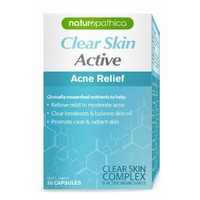 Naturopathica Clear Skin Active 30 Capsules Support Skin Repair
