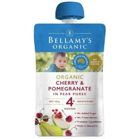 Bellamy's Organic Exotic Fruits Cherry & Pomegranate In Pear Puree 120g  Baby