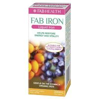 Fab Iron Liquid Iron 200ml Restore Energy Overall Health Suitable For Children