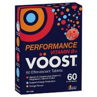 Voost Vitamin B+ Performance Effervescent 60 Pack Support Muscle Performance