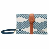 JJ Cole Changing Clutch - Navy Twine Baby Changing Mat Foldable Wallet Style