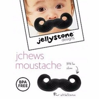 Jellystone Jchews Silicone Teether Moustache BPA Free Safe for Baby