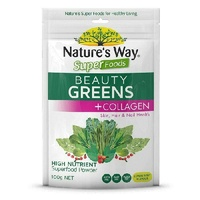 Nature's Way Superfoods Beauty Greens Collagen 100G Skin Hair Nail Health