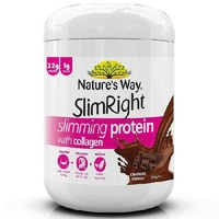 Nature's Way Slim Right Slimming Protein Contains Collagen Choc 350G Muscle