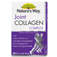 Nature's Way Joint Collagen Complex 60S Relieve Mild Joint Pain Tendon Health