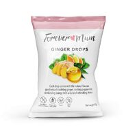 Forever Mum Ginger Drops 90g Soothing Cooling Peppermint and Revitalising Orange