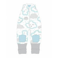 Coolies No Arms Cotton 6-12m My First 1.0 TOG CLOUDS - PEPPERMINT