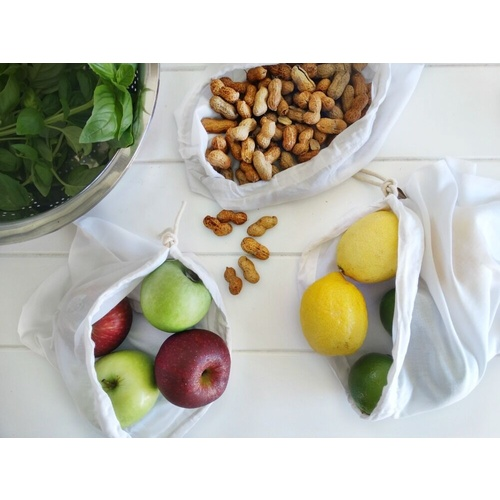 4MyEarth Bamboo Kitchen Essential bags (Produce and nut milk bags) 3 Pieces