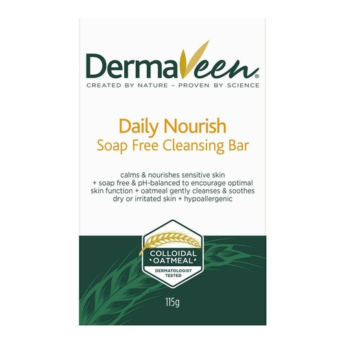 Dermaveen Dry Skin Soap Free Cleansing Bar 100G